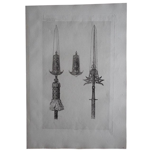 Image of Antique Culinary Utensils Etching