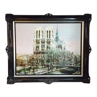 """""""Notre Dame"""" Oil Painting"""