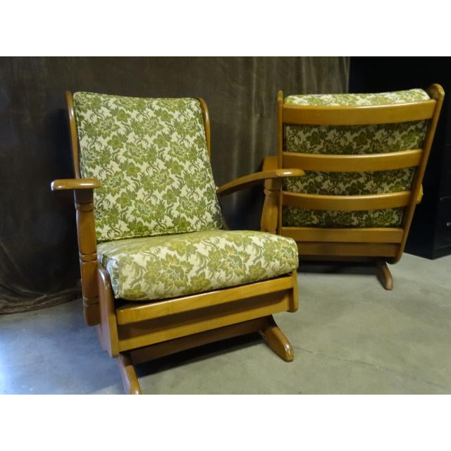 Mid-Century Cushman Style Colonial Platform Rocking Chairs - A Pair - Image 3 of 8