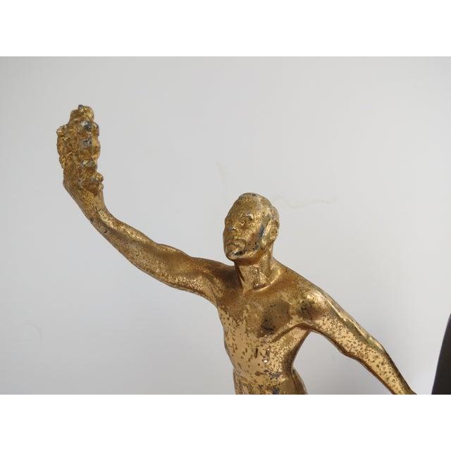 Antique Art Deco Bronzed Metal Figure Bookend - Image 3 of 6