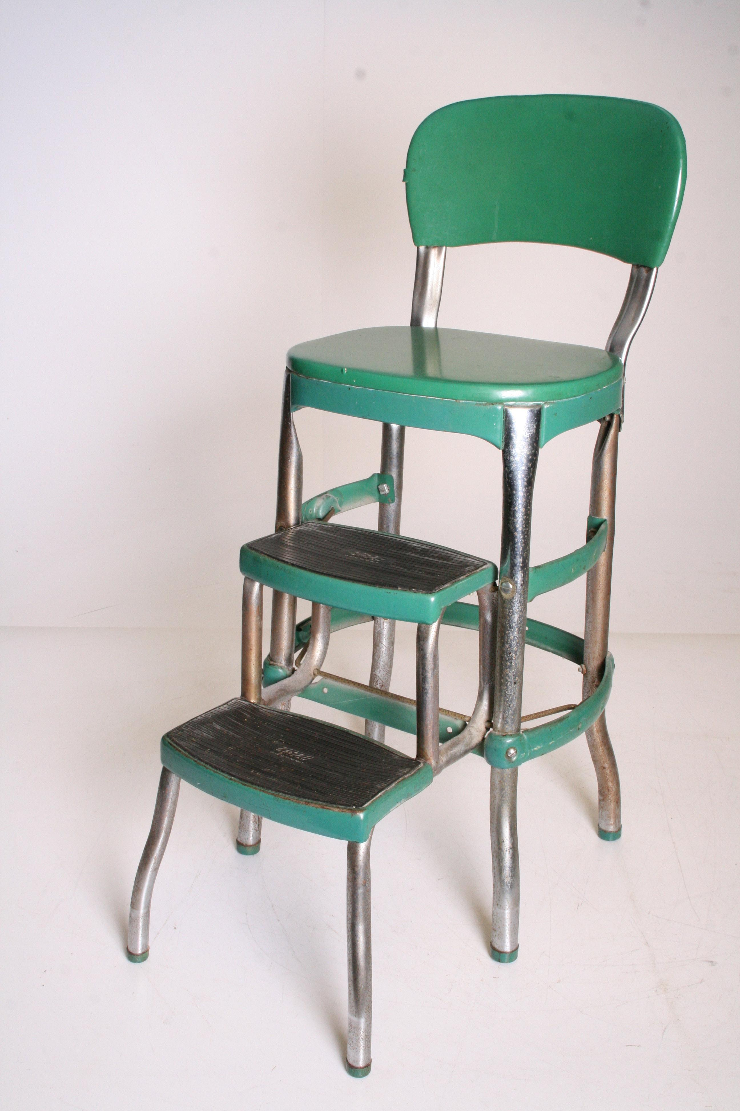 Mid Century Green Metal Cosco Step Stool Chairish