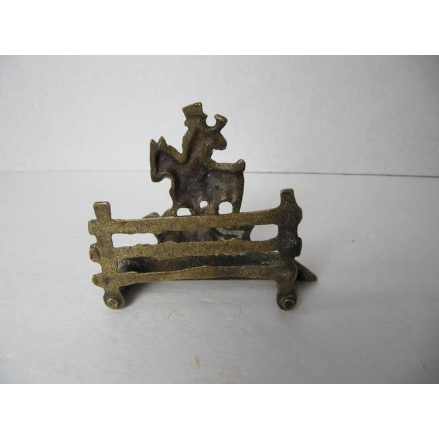 Brass Equestrian Letter Holder - Image 4 of 6