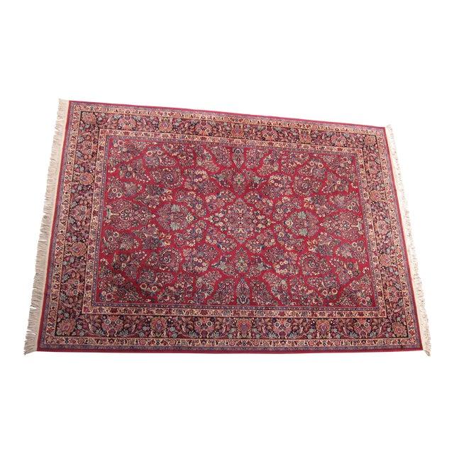 Karastan Red Sarouk Pattern - 8′9″ × 12′ - Image 1 of 8