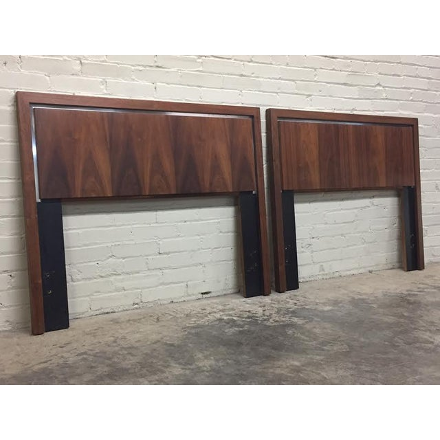 Dillingham Twin Headboards by Milo Baughman - Pair - Image 5 of 8