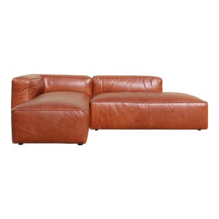 Low Leather 2 Piece Sectional Sofa