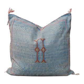 'Cornflower' Moroccan Sabra Silk Pillow