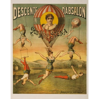 """Descente D'Absalon"" Print of French Circus Poster"