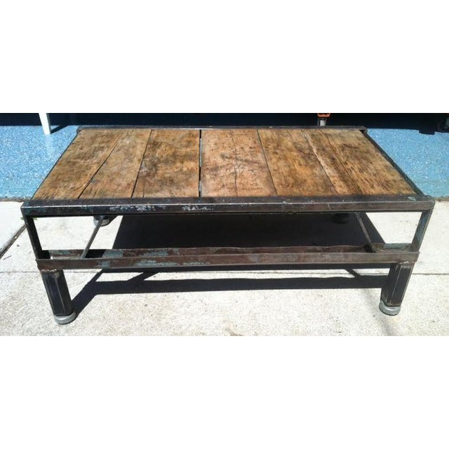 Industrial Detroit Factory Cart Coffee Table - Image 2 of 5