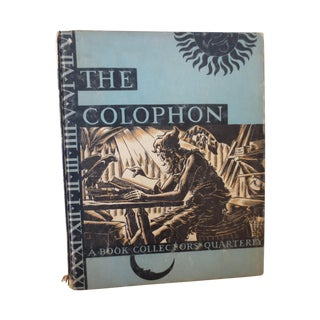 Colophon Part 9, 1932: Book Collectors Quarterly
