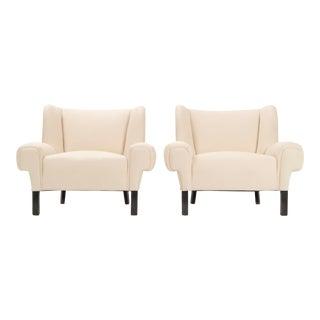 Pair of Paul Laszlo Lounge Chairs