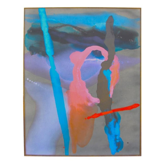 Image of William Mccloy abstract with Slater museum label