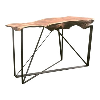 Live Edge Redwood Slab Bar Console Table