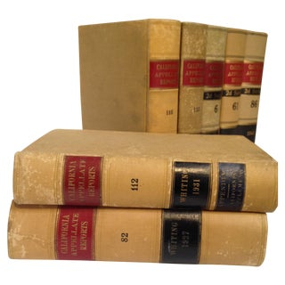 Law Books, California Appellate Reports - Set of 7