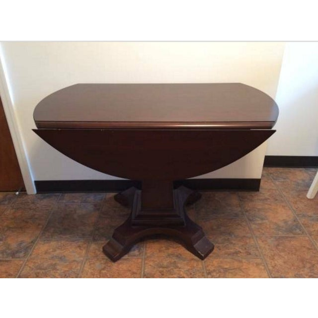 Solid-Wood Dining Table And Side Table - Image 3 of 5