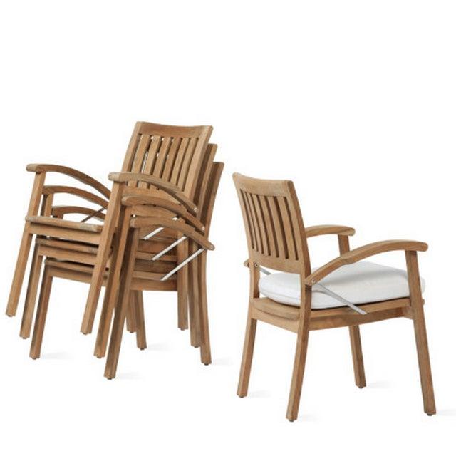 Summit Weathered Teak Armchairs - Set of 3 - Image 8 of 8