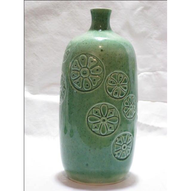 Vintage Keramikos Green Porcelain Vase - Image 2 of 9