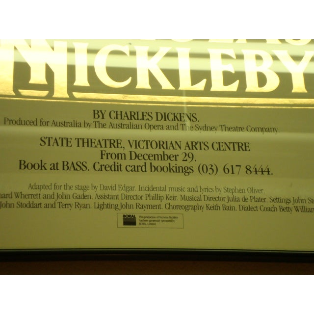 1984 Australian Theater Poster, Nicholas Nickleby - Image 4 of 6