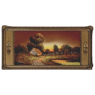 Albert Francis Glatthaar Country Cottage Pastel Painting