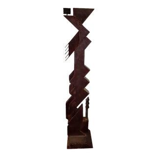 Monumental Brutalist Iron Sculpture