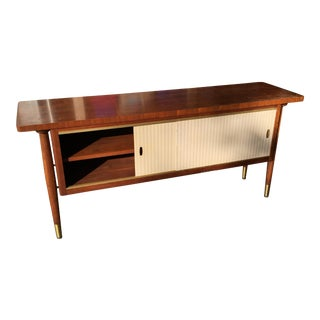 Mid-Century Modern Credenza Buffet Console Floating Top Legs