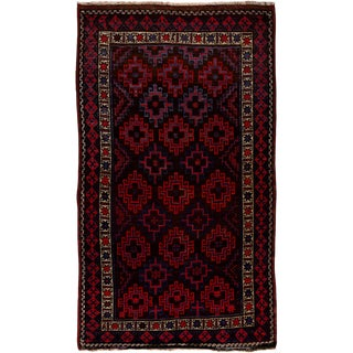 """New Tribal Hand Knotted Area Rug - 4'10"""" x 8'10"""""""