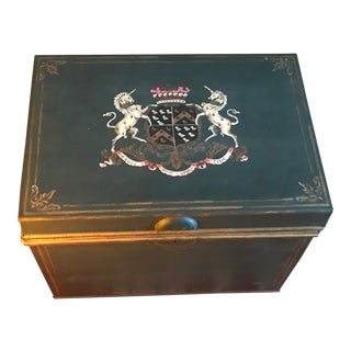 Large English Metal Strong Box