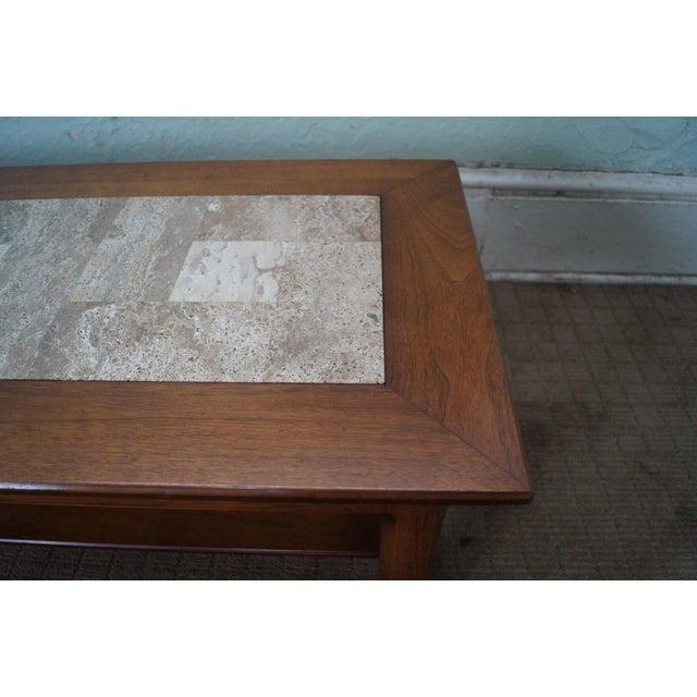 Mid Century Modern Long Walnut Coffee Table - Image 5 of 10