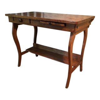 Antique Early 1900's Oak Student Desk