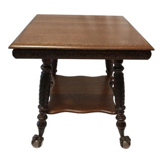 Antique Claw Foot Oak Table