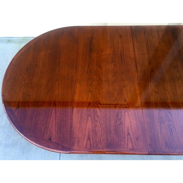 Danish Modern Teak Dining Table - Image 6 of 11