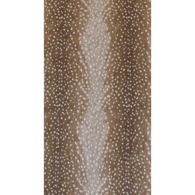 """X-Large 55"""" Custom Tailored Deer Fawn Velvety Chenille Christmas Tree Skirt - Image 9 of 9"""