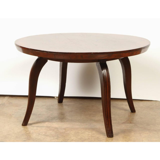 Lovely French Colonial Art Deco Rosewood Coffee Table Decaso
