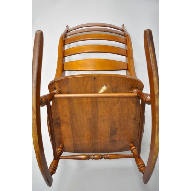 Mid-Century Tell City Maple Sculptural Ladder Back Rocking Chair - Image 2 of 11