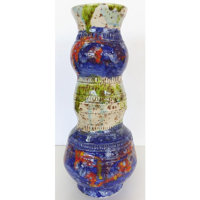 Multi-Colored Glazed Ceramic Vase by Gary Fonseca - Image 2 of 8