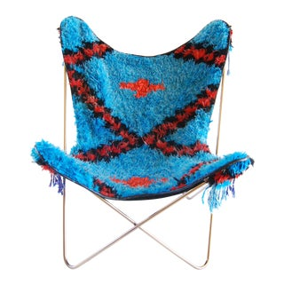 Blue Soukie Butterfly Chair