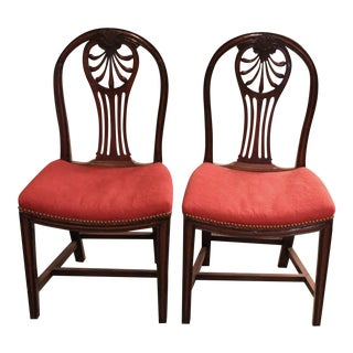 George III Mahogany Side Chairs - A Pair