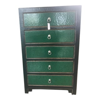 Emerald Green Chest of Drawers