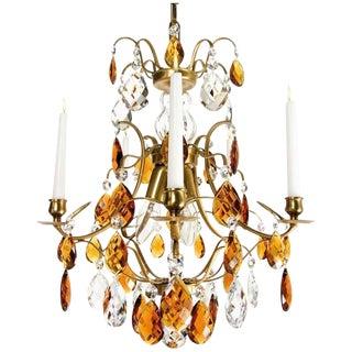 Baroque Chandelier - Cognac & Amber