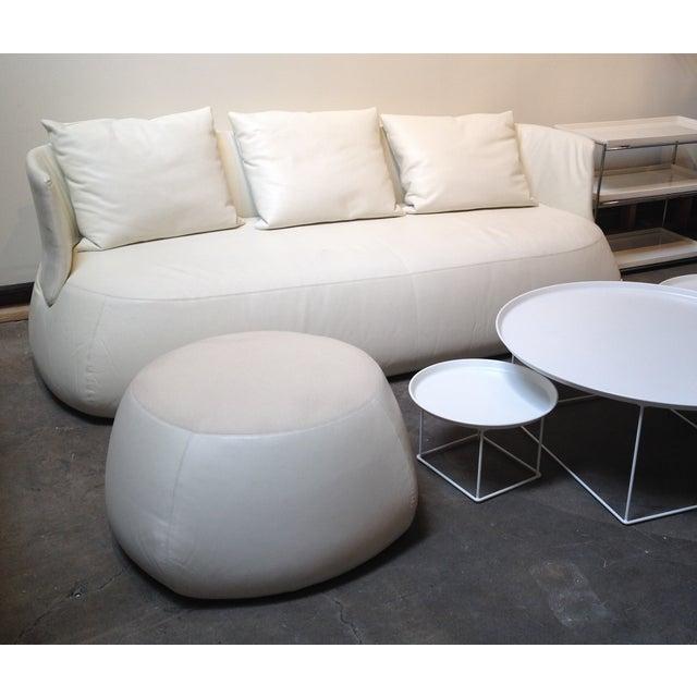 B&B Italia White Leather 'Fat' Sofa - Image 4 of 4