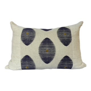 African Mudcloth Geometric Linen Panel Pillow