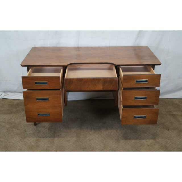 Image of Vintage Mid-Century Danish Walnut Writing Desk