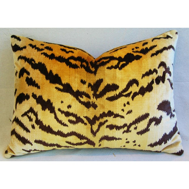 Italian Tiger Stripe & Mohair Pillow - Image 2 of 5