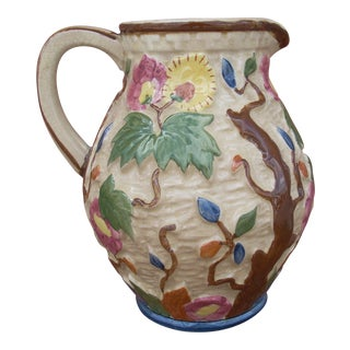 Indian Hand Painted Pitcher