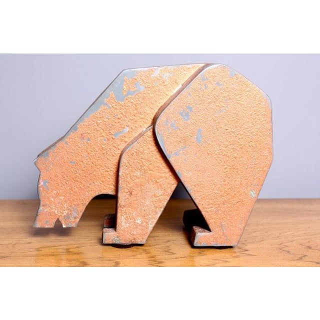 Image of Aluminum and Metal Store Display Bear