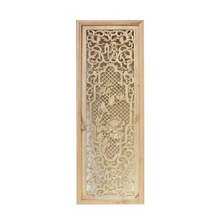Chinese Wood Carving Wall Plaque