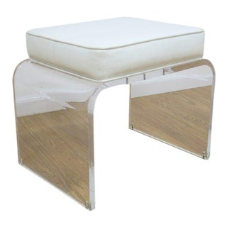 Shlomi Haziza Design Lucite Vanity Stool