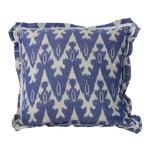 Royal Blue Ikat Pillow