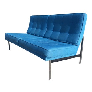 Florence Knoll Parallel Bar Loveseat Settee Sofa