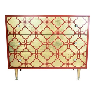 Mid-Century Gold & Orange Dresser