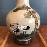 Image of Vintage Asian Celadon Ceramic Lamp